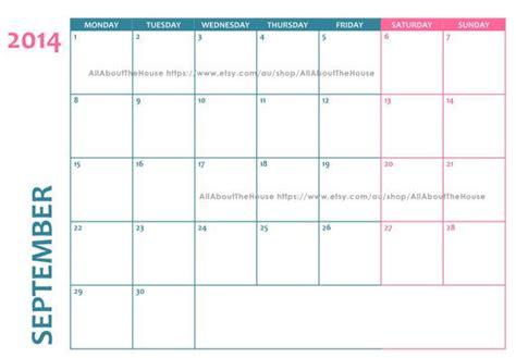editable calendar template 2014 editable 2014 calendar printable landscape pink and