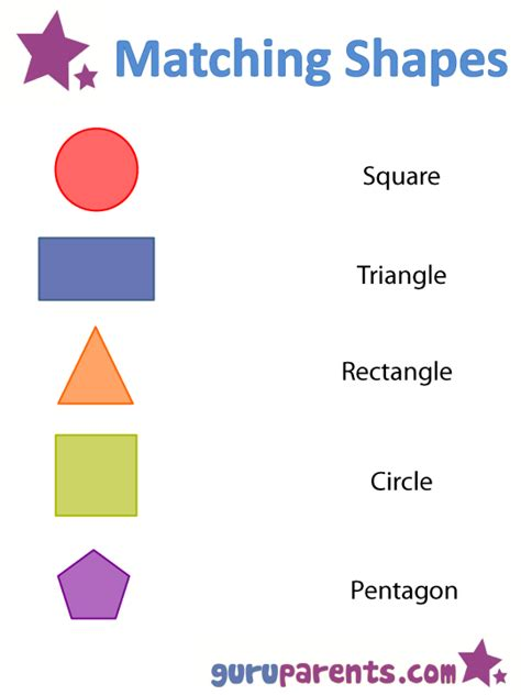 shape pattern matching shapes worksheets and flashcards guruparents