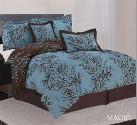 brown ruffle comforter so pretty teal and brown bedding pinterest dust
