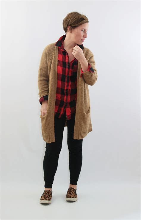Who Wore It Better Wang Buffalo Plaid Cardigan by Winter Capsule Week 7 Recap Style This