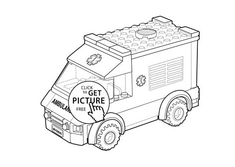 lego ambulance coloring pages lego ambulance car coloring page for kids printable free