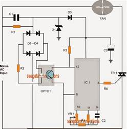 pwm controlled fan dimmer switch circuit 120v 220v ac