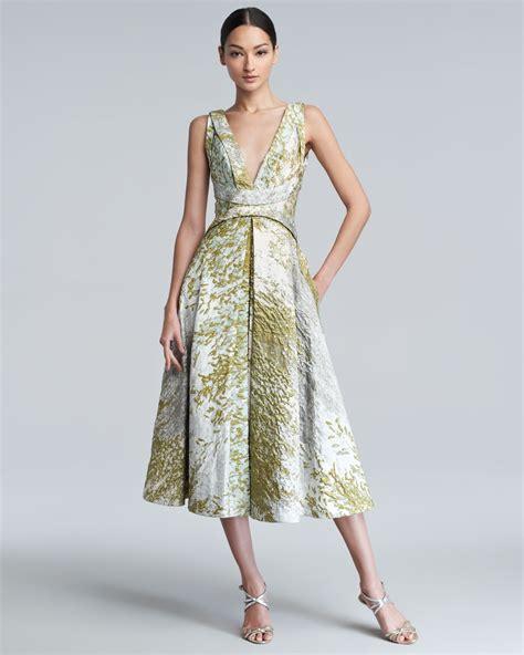 Mackandphil Aline Green Size 23 lyst j mendel ss sleeveless aline dress in green