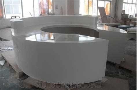 White High Gloss Round Table Tops,Artificial Stone