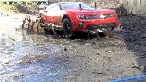 mudding cars high volts rc rc camaro rally car mud bashing tamiya tt