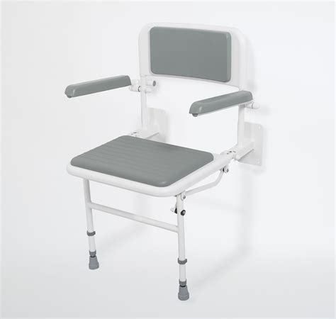 disabled shower seat wall mounted wall mounted padded shower seat with back arms and legs