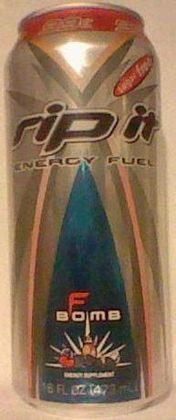 f bomb energy drink caffeine king rip it sugar free f bomb energy drink review