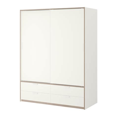 trysil wardrobe w sliding doors 4 drawers ikea