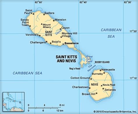 st kitts and nevis map kitts and nevis location encyclopedia