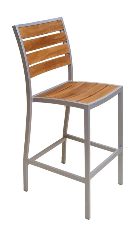 restaurant outdoor bar stools florida seating commercial aluminum teak outdoor
