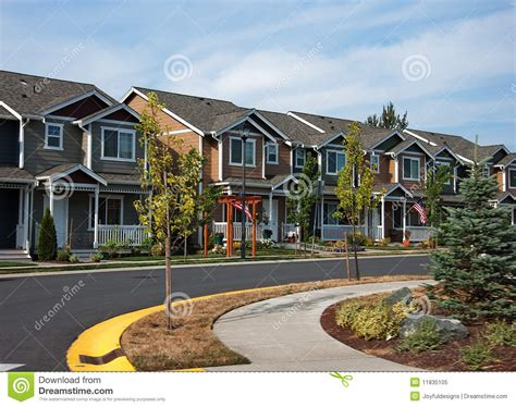 Town House Plans by Cuved Row Of Modern Townhouses Stock Image Image Of