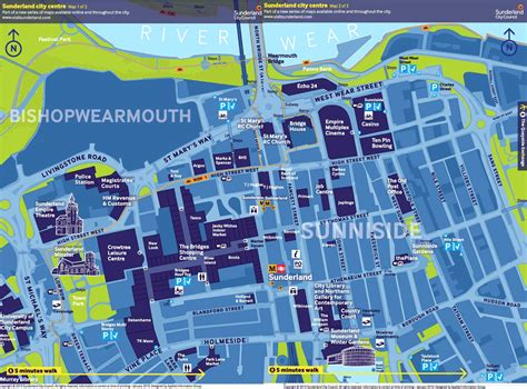 map of city centre sunderland city centre tourist map