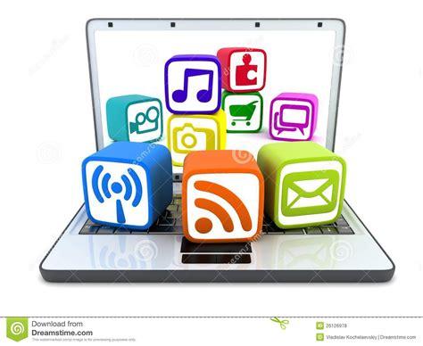 Laptop Multimedia laptop and multimedia royalty free stock photos image