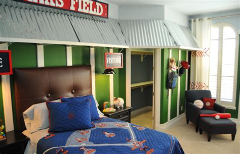 vintage sports themed boy s bedroom traditional baseball kids room traditional kids orlando by