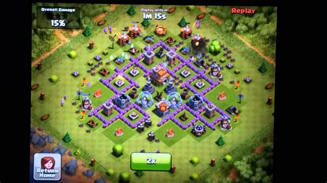 clash of clans defense town hall level 7 clash of clans town hall level 7 funnel defense mortar