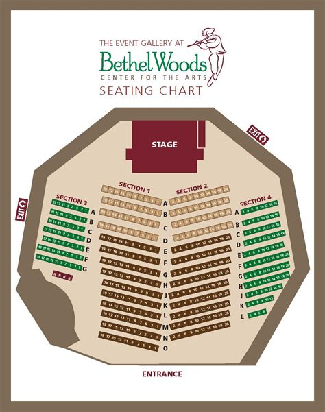 bethel woods seating seating charts bethel woods center for the arts