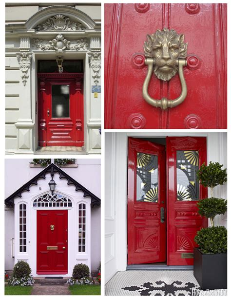 red door home decor trend decoration choosing exterior house colors for