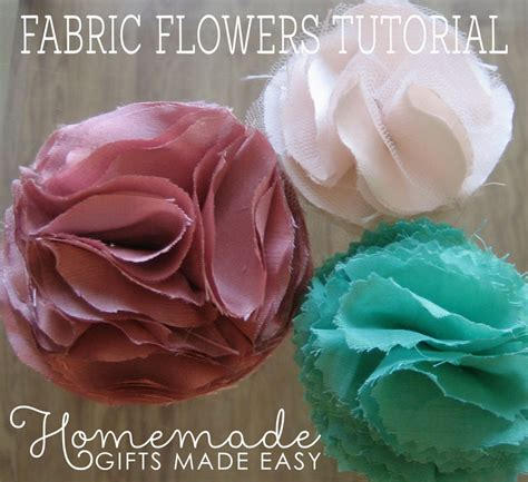 How To Make An Easy Flower Out Of Paper - how to make fabric flowers