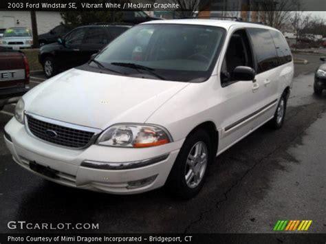 2003 ford windstar se vibrant white 2003 ford windstar se medium graphite