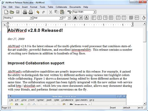 free 6 microsoft word doc abiword 2 8 6 free software reviews downloads news free trials freeware and
