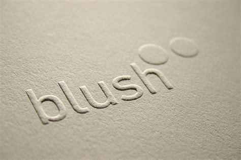 Blind Embossed Stationery Blush 176 176 Bespoke Amp Custom Letterpress Printing In The Uk