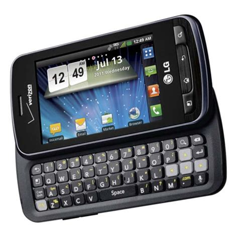 free android phones free lg enlighten android smartphone with qwerty keyboard on verizon network cheap phones