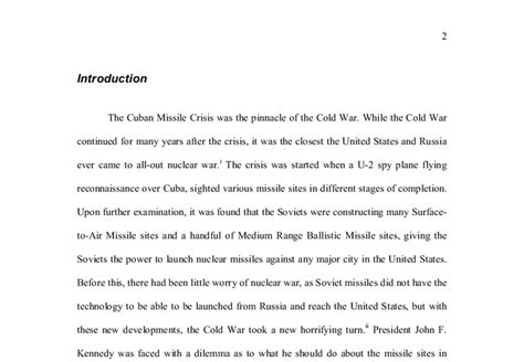 Cuban Missile Crisis Essay by The Cuban Missile Crisis And The Blockade A Level History Marked By Teachers