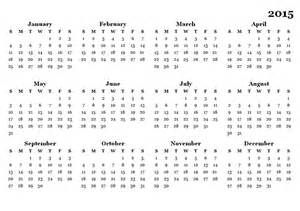 2015 Printable Calendar Template by 2015 Yearly Calendar Template 08 Free Printable Templates