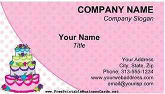 cake business card template cake business card