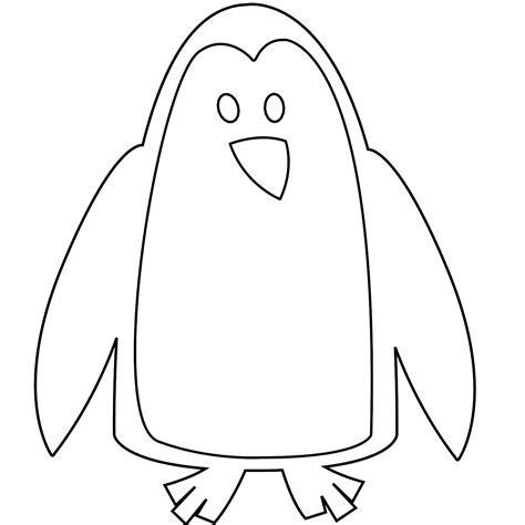 Penguin Clipart Outline by Clip Colorful Animal Penguin Black White