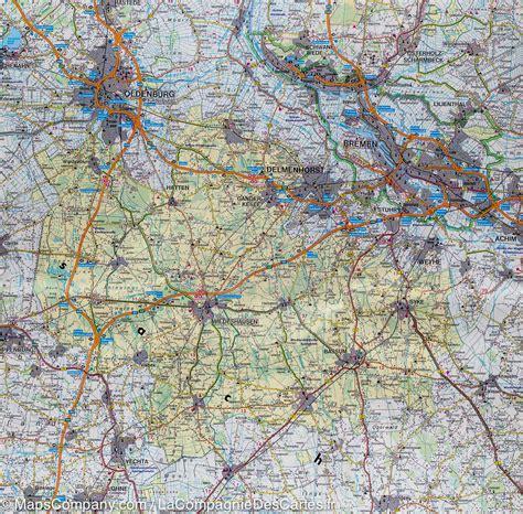 saxony germany map map of lower saxony bremen germany freytag berndt