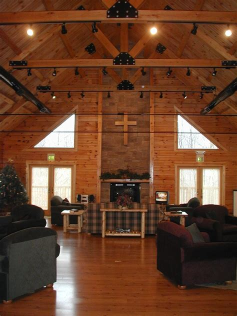 Kitchen Lighting Ideas Vaulted Ceiling Our Log Home Photos Great Room Showing Stone Fireplace And