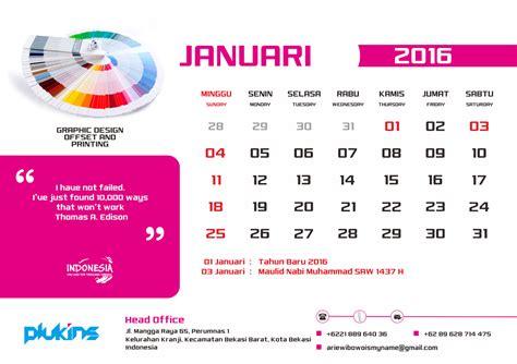 meja desain grafis jasa desain grafis bekasi kalender meja 2016