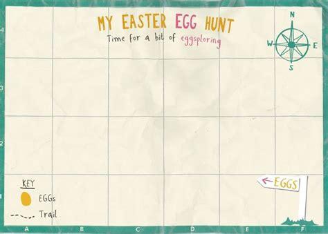 Easter Egg Hunt Map Template treasure map template easter