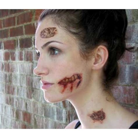 simple zombie tattoo easy zombie makeup tattoo