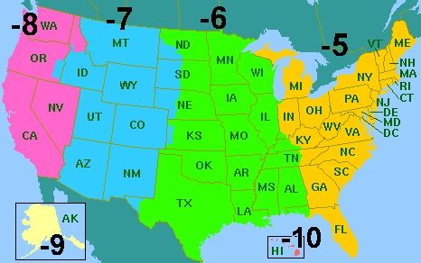 time zones usa map with cities map time zones usa map of usa states