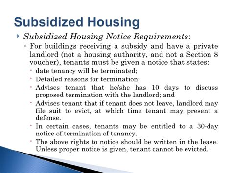 section 8 housing requirements for tenants landlord tenants leases an ounce of prevention