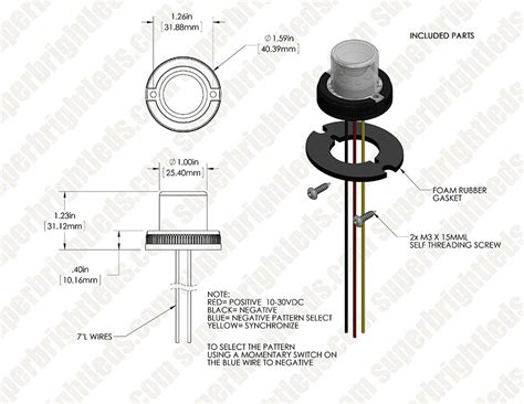 vehicle led strobe light wiring diagram led strobe circuit