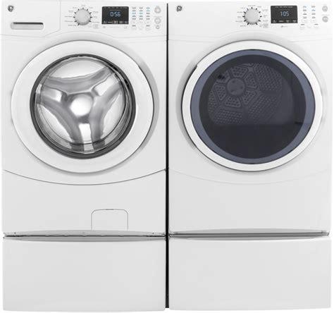 Front Load Washer With Pedestal Ge Gewadrew51 Side By Side On Pedestals Washer Amp Dryer Set