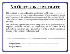 No Objection Statement Sample No Objection Certificate Rajivagarwalproperty