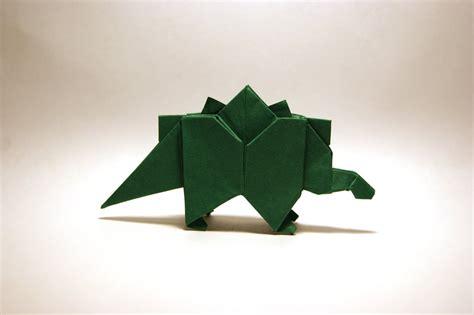 Origami Stegosaurus - origami stegosaurus by orimin on deviantart