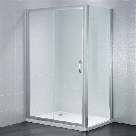 1100mm Sliding Shower Door April Identiti2 Sliding Shower Door Ap9478s 1100mm Polished Clear