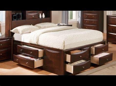 king size platform storage bed  drawers youtube