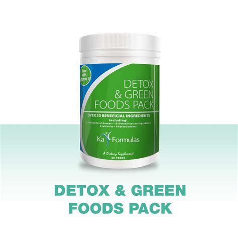 Detox Pack Uses by Detox Green Foods Pack Clear The Toxins