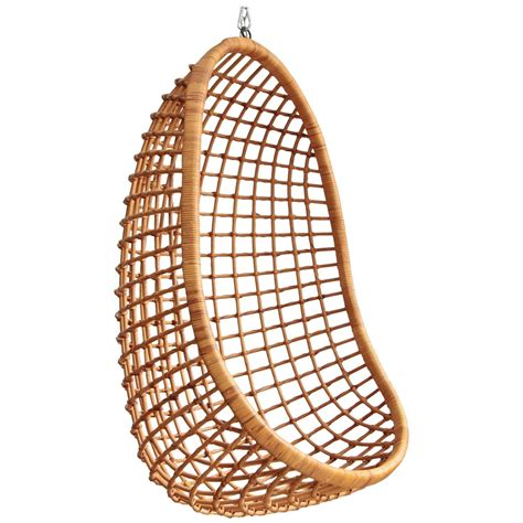 hanging rattan chair rohe noordwolde hanging rattan egg chair at 1stdibs