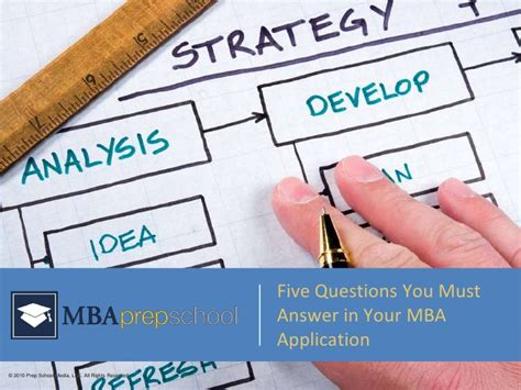Why Mba Best Answer In by Five Questions You Must Answer In Your Mba Application