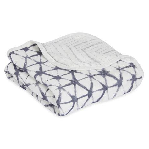 Aden Anais Silky Soft Blanket Berry Shibory Selimut Bayi silky soft stroller blanket pebble shibori baby blankets aden anais
