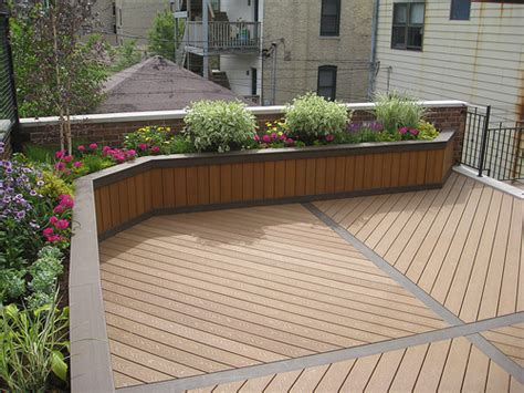Deck Planter Boxes by Planter Box Using Trex Custom Built Planter Boxes By
