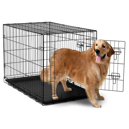 dogs with abs quot oxgord 42 quot quot heavy duty foldable door crate with divider and removable abs