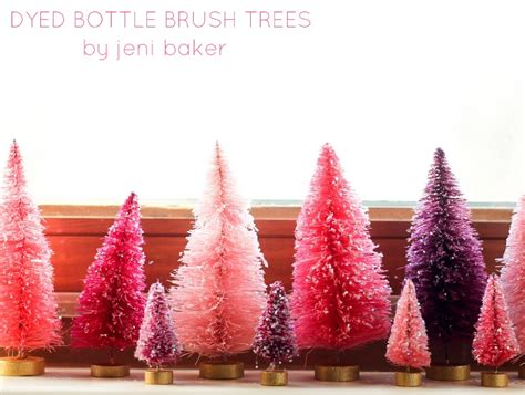 diy bottle brush christmas trees going home to roost